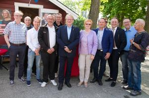 Peter Hultqvist träffade lokala socialdemokrater och representanter från olika fackförbund.