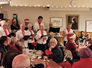 PRO-kören under ledning av Margareta Olsson sjöng vackra julsånger under julmarknaden.