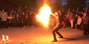 Eldshow från Valborgsfirandet i Sala 2019.