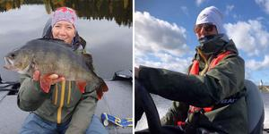 Anna Edwertz började sportfiska på allvar först i år, i samband med att hon och sambon skaffade båt.