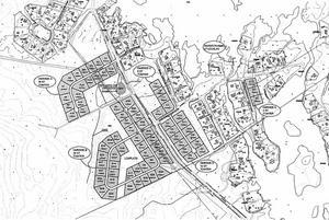Områdena som kan bli aktuella för tomter:Båda sidor av infarten till Brusängsvägen, ca 15 tomter.Väster om Harkskärsvägen,  i riktning mot telemasten, ca 55 tomterVid Skärgårdsstigen, tre tomterI ytterkurvan mellan Storuddsvägen och Vikstigen, fem tomter.Illustration: Gävle kommun