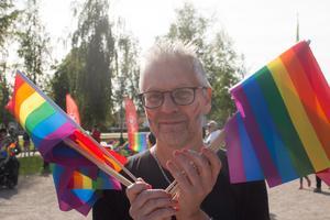 Mikael Forsberg, lärare på Kungsängsgymnasiet, ser redan nu fram emot nästa års parad.