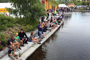 Kanalfisket för barnen är alltid populärt. Dock litte färre deltagare i år jämfört med förra året.