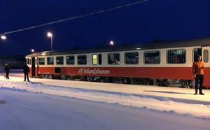 Snötåget längs  Inlandsbanan är populärt och vd Peter Ekholm berättar om en bra reshelg.
