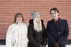 Jeffrey Peplowsky, Mimmie Stålhandske och Åsa Hurtig-Göransson hoppas på klirr i kassan för Musikhjälpen.
