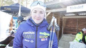 Linn Larsson från Hede SK hamnade på en sjätteplats i årets SM i skidskytte.