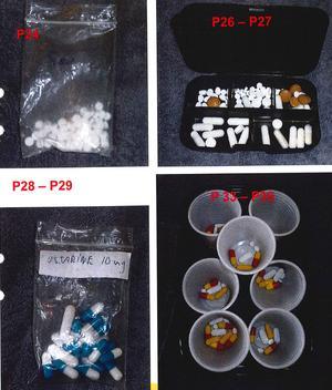 Hemma hos mannen fann tullen droger som hade doserats. Enligt den misstänkte var det för att själv ha koll på vad han brukade. Bild: Tullverket
