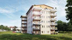 Ett likadant HSB-hus har byggts i Bollnäs.