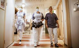 På avdelning fyra på Norrtälje sjukhus vårdas alla covid-19 patienter.