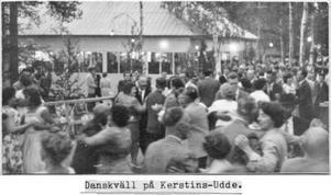 Så här kunde det se ut på Kerstins Udde under glansdagarna på 60 och 70-talet.