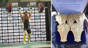Eddie Berglund åkte hem från Helsingborg med fem guldmedaljer