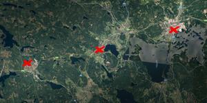 Inbrotten har skett i Sandviken, Storvik och Hofors. Bild: Google