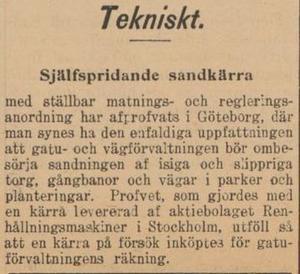 Från ÖP, 22 november 1902.