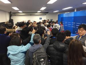 Lite skillnad på koreanska pressidan. Ser ni ens spelaren som intervjuas?