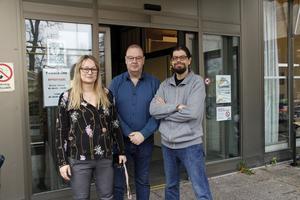Elin Ragnebro, Jan Fransson och Göran Wahlsten hoppas att projektet Påfart får fortsätta även efter årsskiftet.