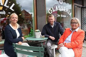 Sara Broman, Jan-Erik Broman och Eva Darj Broman var på besök från Uppsala.– Jag är ursprungligen härifrån och vi åkte hit för att vara med på invigningen, säger Eva Darj Broman.