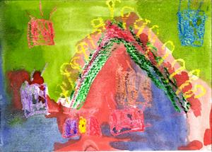2:a pris Wera Borg, 5 år, Hallen. Kategori 0-5 år.