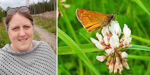 Anna Karin Wennström hoppas att en äng i Andersberg ska öka förekomsten av pollinerande insekter i stadsdelen. Foto: Anna Karin Wennström
