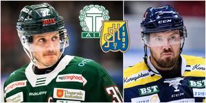 Robin Olsson och Nicklas Grossmann. Foto: Bildbyrån. Montage: Hockeypuls.