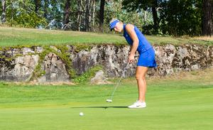 Isabelle Johansson var nöjd med spelet trots den tunga avslutningen på rundan.
