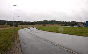I kurvan vid Antennvägen ligger större delen av markområdet.