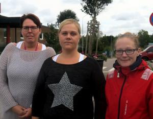 Tina Johansson, Emma Persson och Sandra Selvin har flera frågor till kommunens politiker, och hoppas kunna få svar på några av dem vid ett informationsmöte den 19 september.