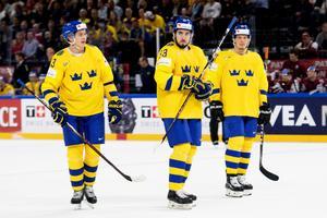 Mattias Janmark, Mika Zibanejad och Rickard Rakell. Bild: Petter Arvidson/Bildbyrån