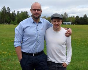 Mora IK-profilerna Mikael Simons och Jonas Westerling ordnar en välgörenhetsmatch för leksingen Tobias Forsberg.
