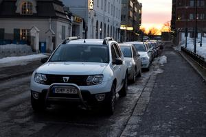 Rådhusgatan är en av de gator som kommer att ha parkeringsförbud nattetid under en dag i veckan.