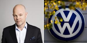"""""""Vi har behov av att diversifiera och stärka oss ännu mer mot yngre akademiker för olika typer av tjänster"""", säger Marcus Thomasfolk, kommunikationschef på Volkswagen Group Sverige. Bild: Mattias Bardå och Markus Schreiber/AP/TT"""