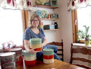 Annika tycker om kakburkar och farmors Triett är en favorit.