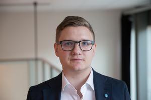 Alex Nilsson (SD), montör, Grusåsen, 25 år.