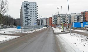 Här på Öster Mälarstrands allé ska det bli en busslinje, enligt beslut i tekniska nämnden.