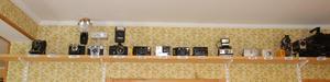 Jans samling av kameror, där den äldsta är från 1920 talet.