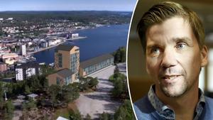 Ett hotell på toppen av Varvsberget är en av kommunens visioner, något som fastighetsstrategen Marcus Elfving inte ser som orealistiskt. Bild: Örnsköldsviks kommun och Peter Forssell
