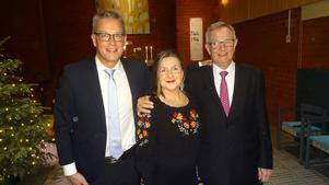 Ulf Nordwall, Maria Bervelius och Kenneth Nordwall uppträdde på nyårsafton för första gången tillsammans, men inte för sista gången får man hoppas. Foto: Kjell Larsson