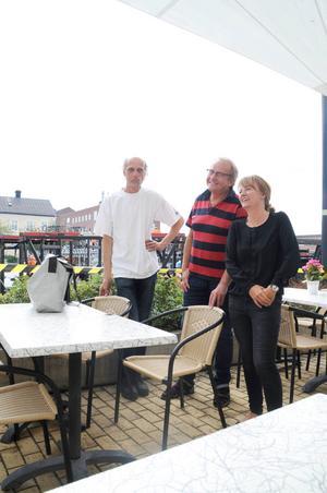 Stefan Kauppi, Lars Sillrén och Andrea Wiktorsson tar efter Storsjöyran sikte på höstens evenemang.