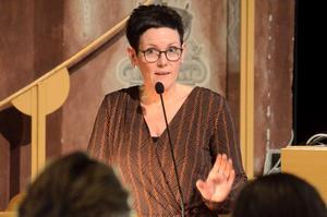Katarina Hansson (S), kommunstyrelsens  ordförande, tyckte att oppositionen försökte ta åt sig äran av att ha kommit med initiativet till intraprenader. Foto: Åsa Eriksson