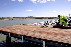 När allt anläggningsarbete är klart ska sjön fyllas med vatten från Kumlaåsen. Då höjs vattennivån ytterligare en knapp meter. Bild: JAN WIJK