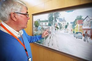 Ett av kommunens kontsverk som ska in i det nya registret. Just den här akvarellmålningen, av Eric Westling, hör till Mats Haldoséns favoriter.