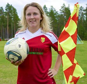 Camilla Larsson gjorde Sveg-Vemdalens två mål mot Brunflo i lördags.