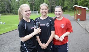 Bara lovord att säga om motivationshelgen. Hanna Martinsson, Lisa Pettersson och Natalie Östlund kände att de verkligen fick ett lyft och har lärt sig massor.