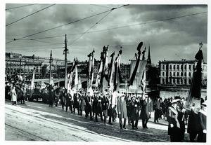 Efter Erik Axel Karlfeldts död 1931 gick ett begravningståg i procession genom Stockholm.