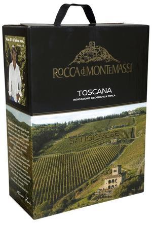 Uppiffad låda. Förra årgången av det här toscanska vinet imponerade inte på mig. Men med den nya årgången har boxvinet Rocca di Montemassi Sangiovese vuxit rejält, främst tack vare fräschare syra och mindre slapp syltighet.