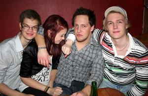Konrad. Kalle, Sofie, Johan och Webba