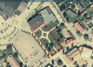 Den nya sporthallen ska bli dockad mot Leksandshallen.