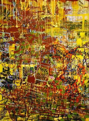 Kåre Henriksson har gått upp i format igen till den nya utställningen