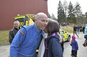 Janne Andersson ledde efter första varvet i värstingklassen, men halkade till slut ned till andraplatsen med sju tiondelars marginal
