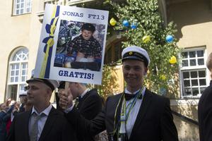 Jonas Eklund har all anledning att se glad ut. Han kammade hem titeln som skolans bäste transportelev.