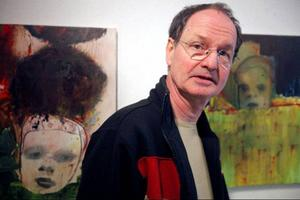 Leif Mattsson målar numera enbart figurativt efter en länge period med abstrakta motiv. Ofta finns litterära förlagor bakom bilderna.
